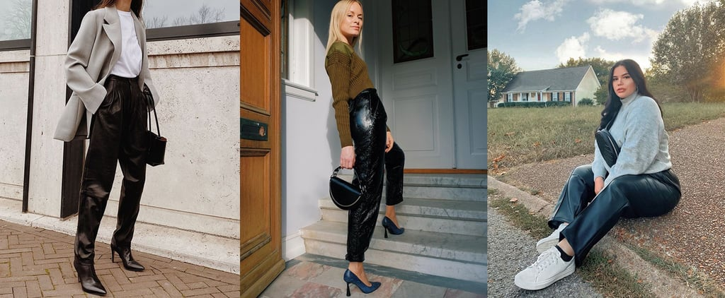How to Wear Leather Pants | Outfit Ideas From Instagram