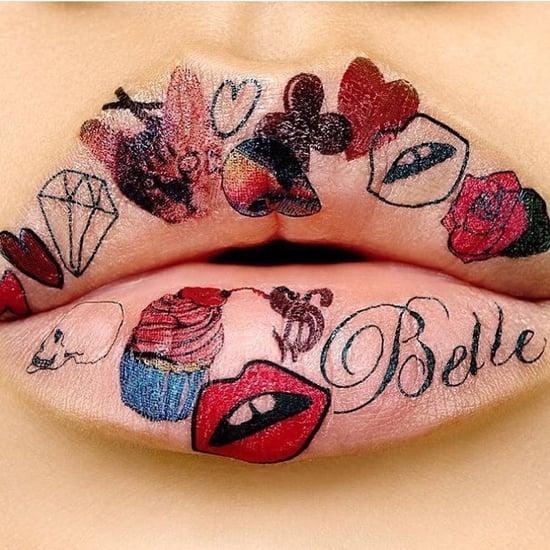 Tiny Tattoos on Lips