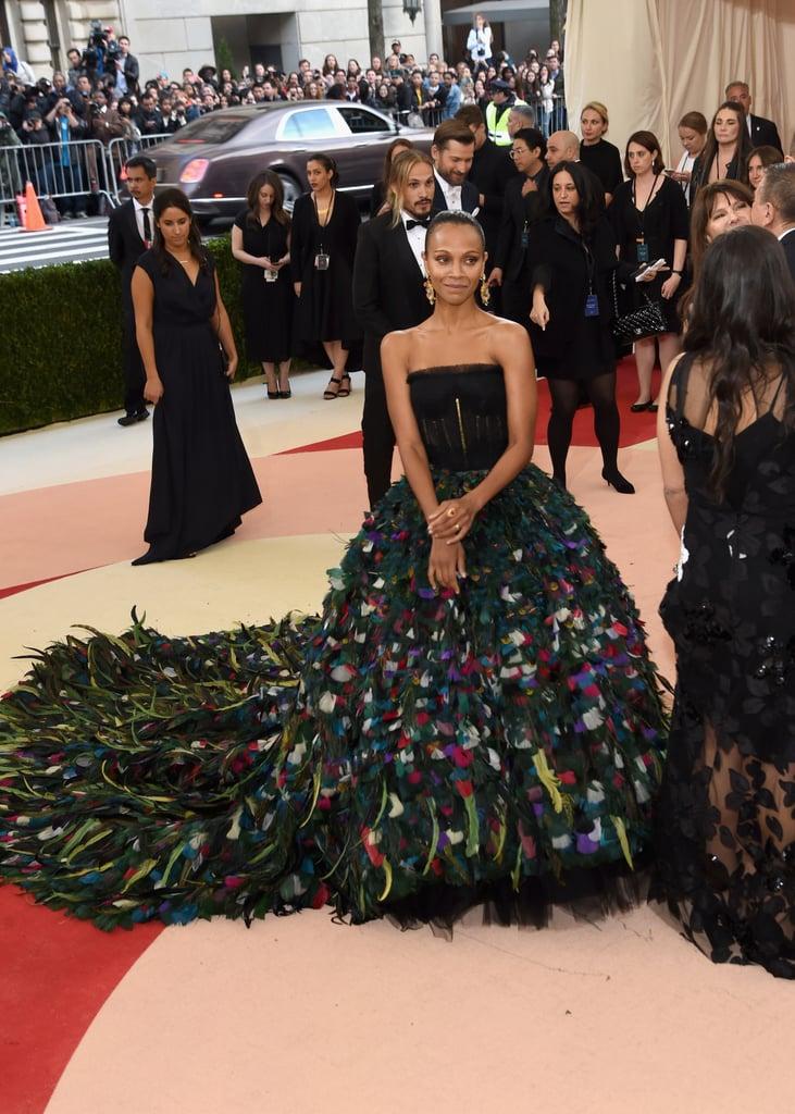 Zoe Saldana Dolce and Gabbana Dress at Met Gala 2016