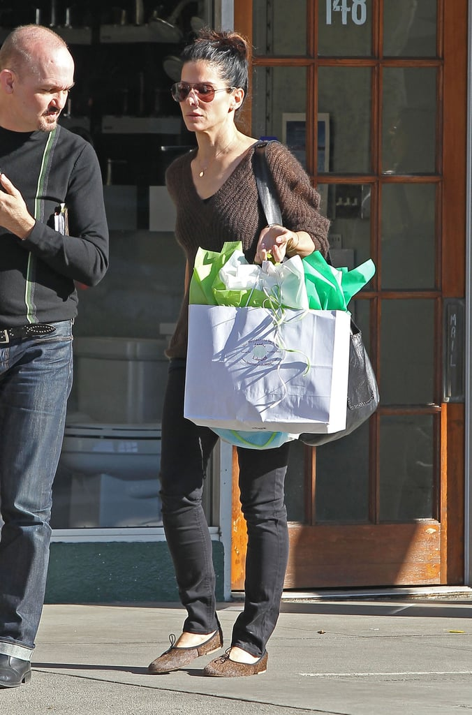 Sandra Bullock Buying Louis Toys in LA | Pictures