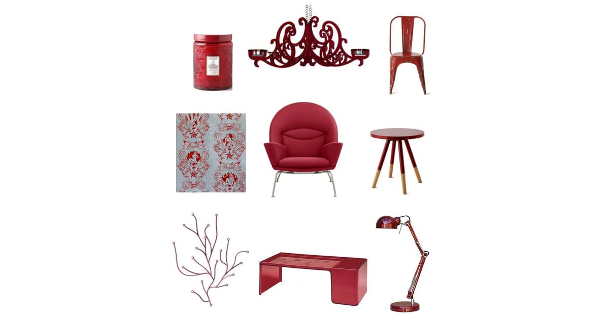 Ruby red home decor shopping popsugar home for Red home decor