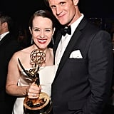 Claire Foy and Matt Smith at the 2018 Emmy Awards