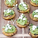 Grilled Polenta Avocado Rounds