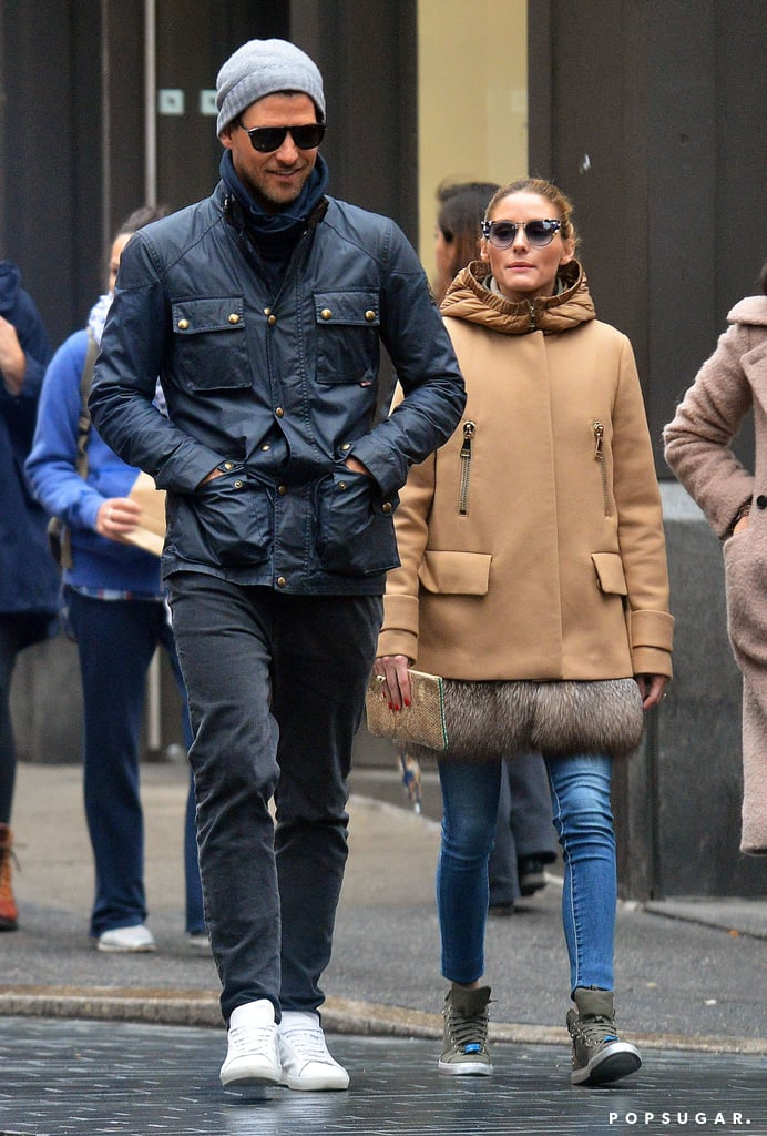 Olivia Palermo Fur Raincoat May 2016