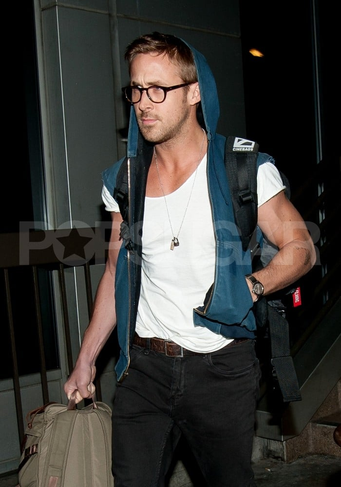 Ryan Gosling arrived at LAX off a late flight.