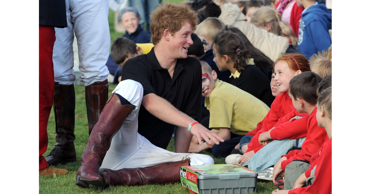 Prince Harry Charmed Local Children After Competing In A Charity Polo Pictures Of Prince Harry