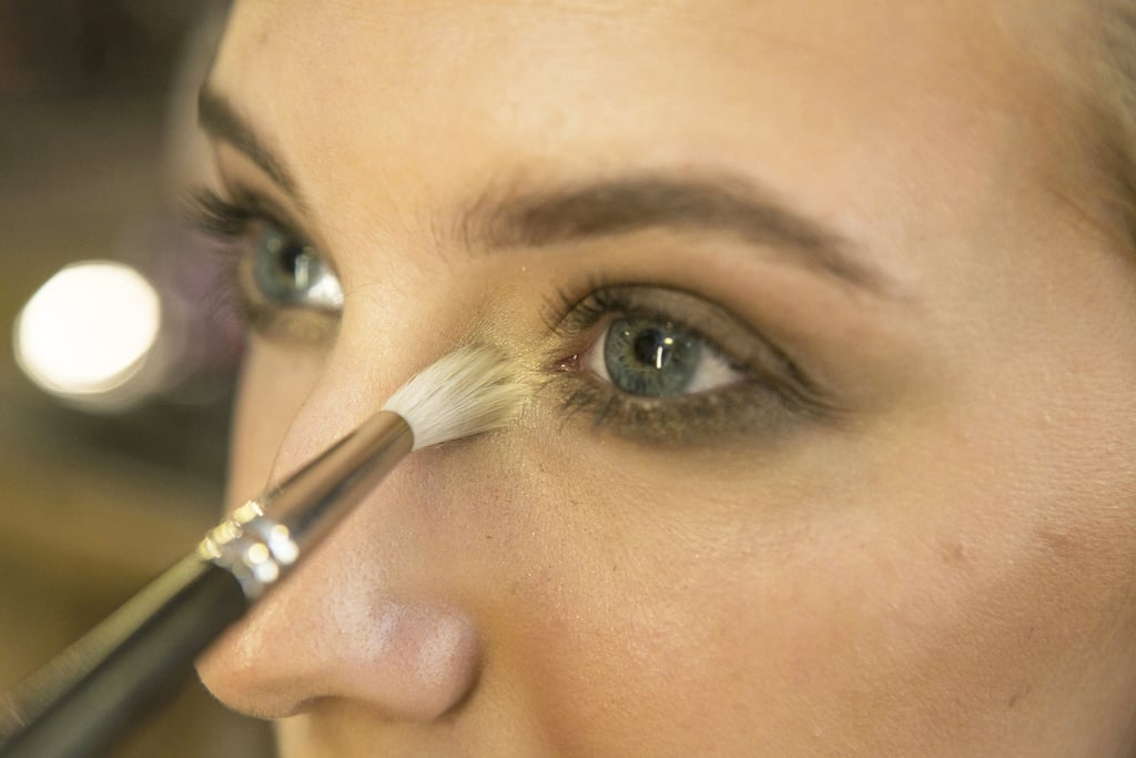 To help make the eyes pop even more, Bettelli applied Pro Longwear Eyeshadow in Carefree ($21), a shimmering pale gold, to the inner corners of the eyes.