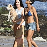 Halle Berry Beats the LA Heat in Her Bikini Top