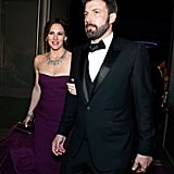 Jen and Ben headed to the Governor's Ball after his big win.
