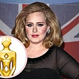 Adele has yet to give birth to her first child, but rumors are already swirling that her boyfriend, Simon Konecki, has picked out a gold Buddha necklace designed by Lady Marina Cowdray for the songstress.