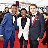 Pictured: Niles Fitch, Caleb McLaughlin, and Logan Shroyer