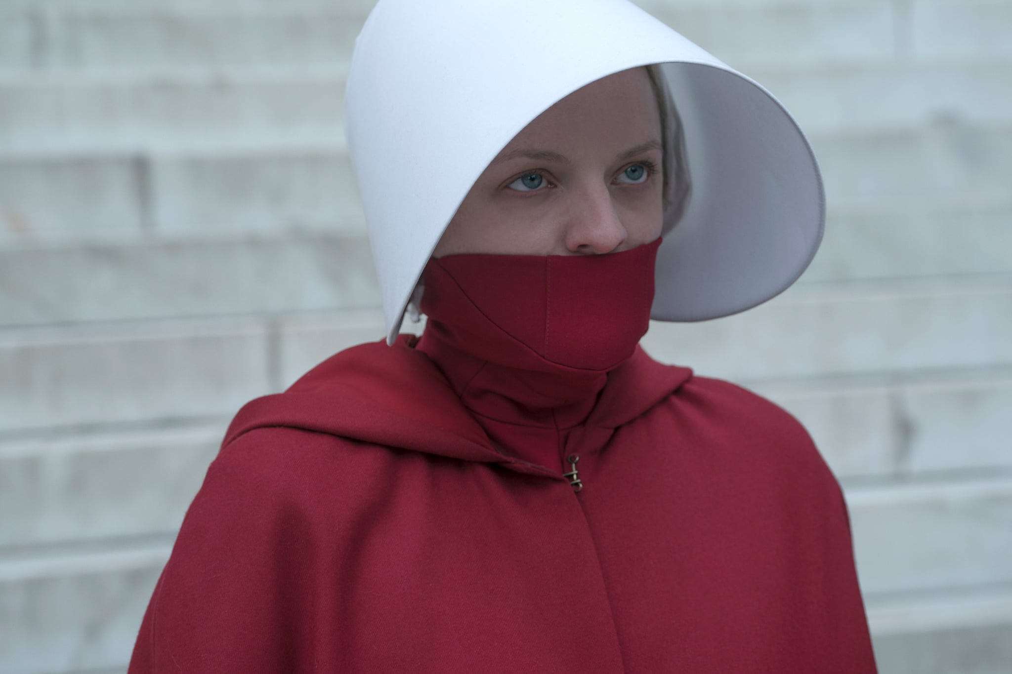 THE HANDMAID'S TALE, Elisabeth Moss, 'Household', (Season 3, Episode 306, aired June 26, 2019). photo: Barbara Nitke / Hulu / Courtesy Everett Collection