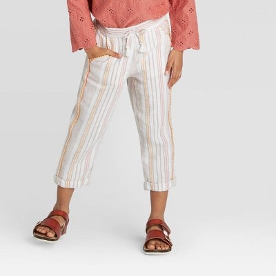 Striped Woven Fashion Pants