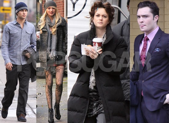 Photos of the Gossip Girl Cast Filming Season 3 in New York City, Chace Crawford, Ed Westwick, Leighton Meester, Taylor Momsen