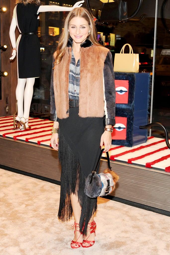 Olivia Palermo in Fendi at Vogue's Fendi Buggies launch.