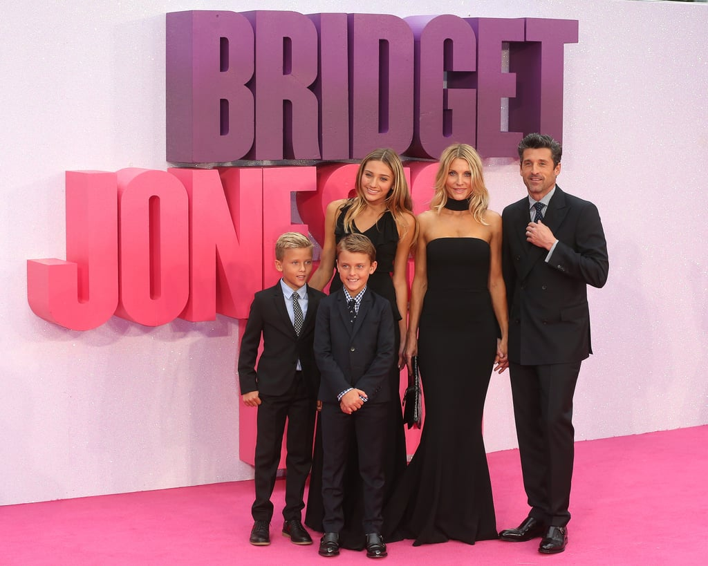 Patrick Dempsey and Family at Bridget Jones's Baby Premiere