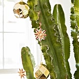 """Living in a 102-square-metre space means there isn't much room for  a tree. But Justina had a creative solution! """"Instead of bringing in a Christmas tree, which we really don't have space for, we decorate the large euphorbia plant (the one that looks like a cactus) in our living room,"""" she said. """"It always lives there so no need to make extra space for holiday decorating."""""""