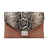 Loeffler Randall Python-effect Leather And Suede Clutch - Snake print ($350)