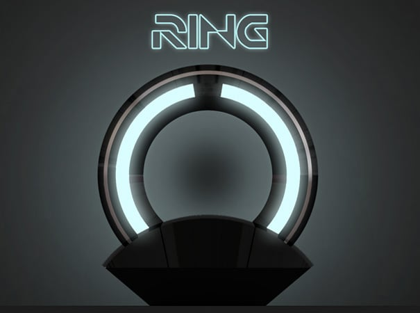 Pictures of the Tron Ring Lamp