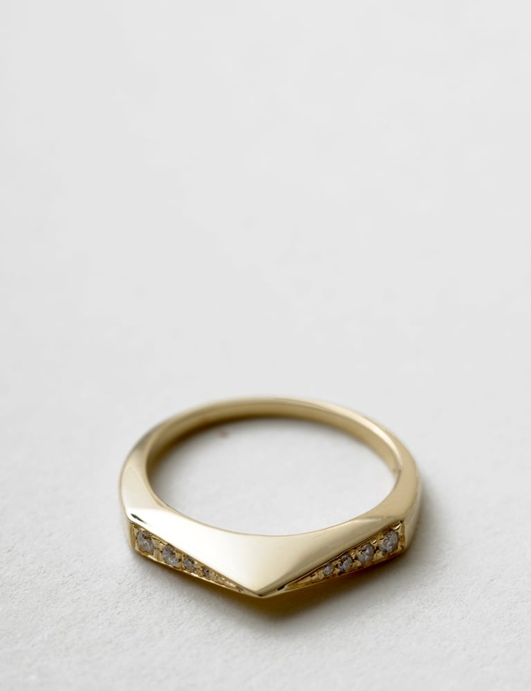 Tilda Biehn White Diamond Low Stirrup Ring ($1,200)