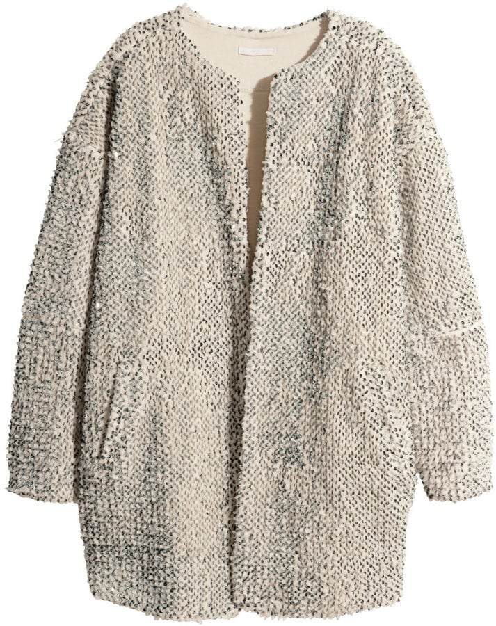 H&M Pile Jacket With Sequins