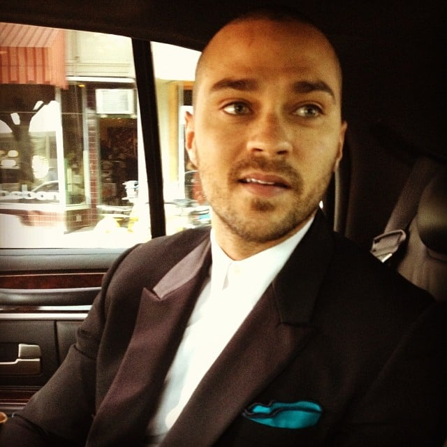 Jesse Williams suited up for the big night. Source: Instagram user ijessewilliams