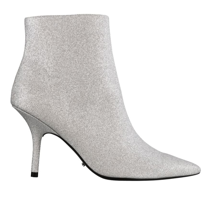 Tony Bianco Elia Silver Glitter Ankle Boots ($229.95)