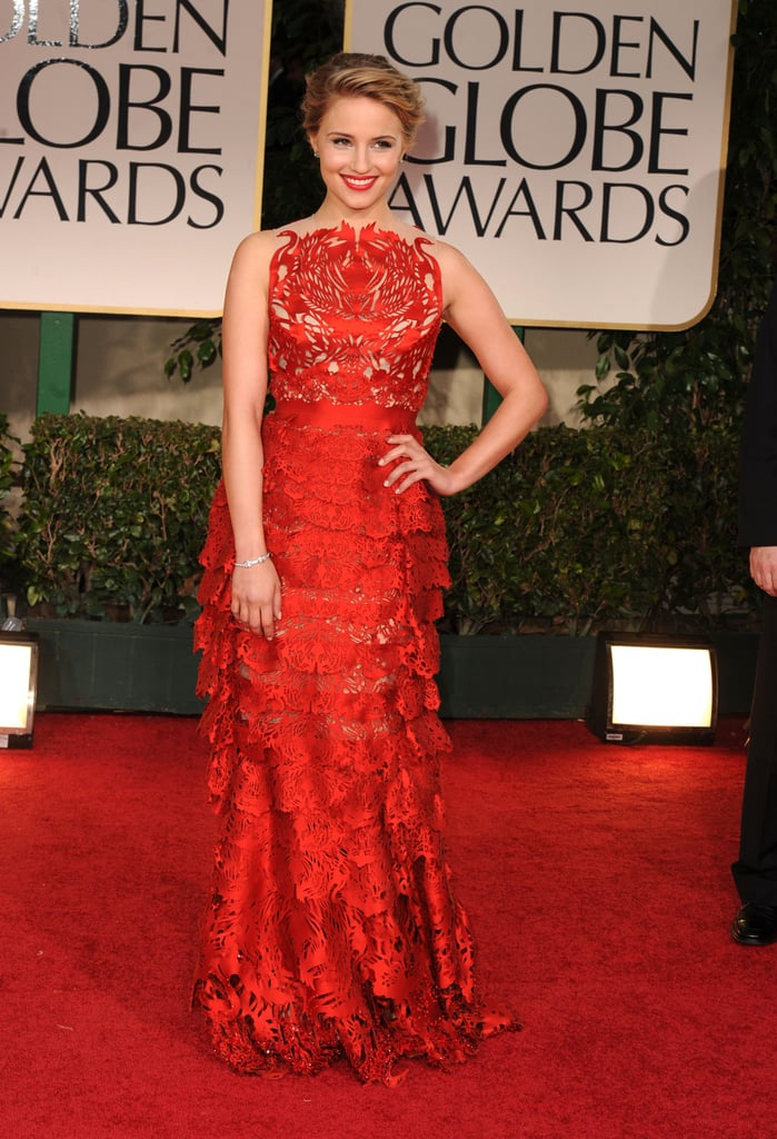 Dianna Agron in Giles Deacon in 2012.