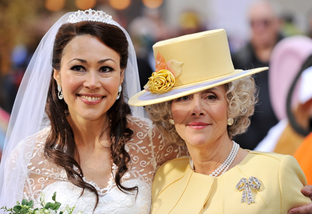 Ann Curry and Meredith Vieira dressed for the royal wedding.