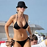 Jenny McCarthy Brings Her Black Bikini Out For a Day at the Beach