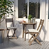 Askholmen Wall Table With 2 Folding Chairs