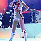 Katy turned heads on stage in Indianapolis, IN, at the DirecTV Super Saturday Night in February 2012.