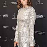 Mandy Moore's Silver Sequined Dress
