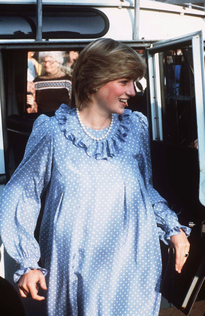 A take on Italian style  Princess Diana stepped out in a long-sleeved polka 2adf73a934