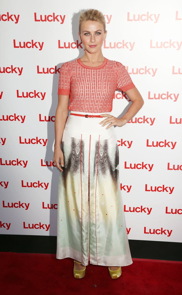 Julianne Hough donned Carolina Herrera for Lucky magazine's FABB cocktail party in LA.