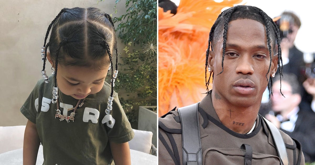 Stormi Webster Matching With Travis Scott S Hairstyle