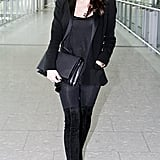 Pregnant Victoria Beckham Heads Back to London From LA