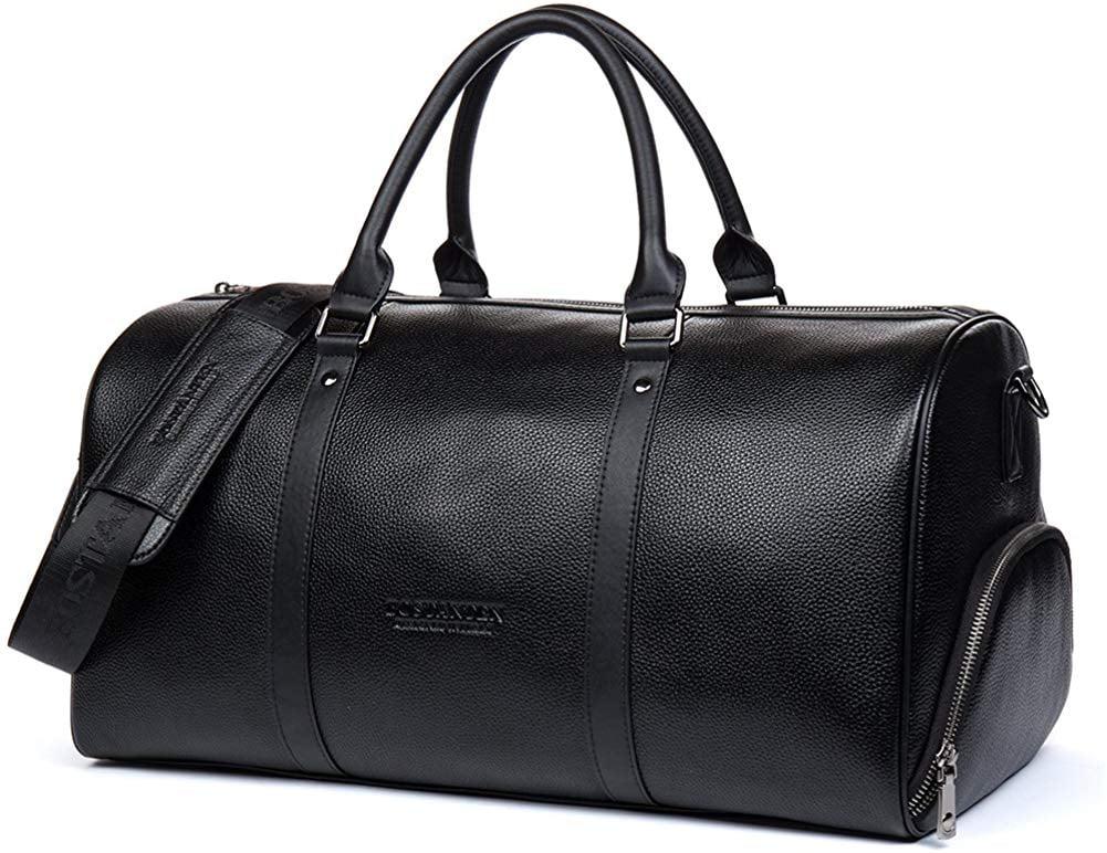 Genuine Leather Weekender Overnight Duffel Bag