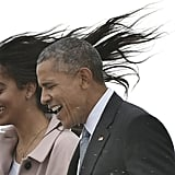 When Barack and Malia couldn't keep it together in the face of a gust of wind.