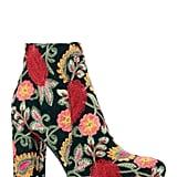 MIA Rosebud Embroidered Block Heel Bootie