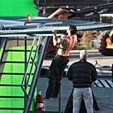 Henry Cavill hung on a ledge in Vancouver for Man of Steel.
