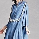 Forever 21 Denim Crochet Fringe Dress