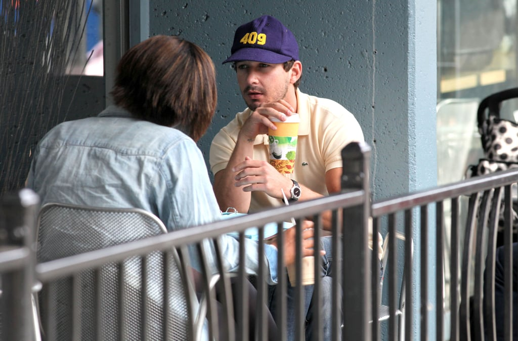Shia looked happy to see his friend.