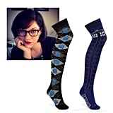"""@juliagazdag Doctor Who Over-the-Knee Socks ($14) """"Because I'm old enough to appreciate a good pair of socks and young enough to fangirl."""""""