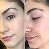 Left: Brows From April / Right: Current Brow