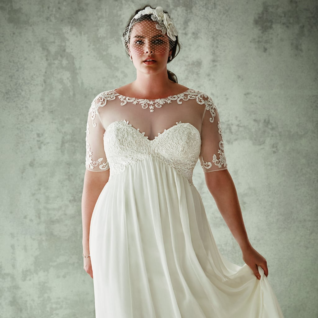 David 39 s bridal plus size wedding dresses popsugar fashion for Davids bridal beach wedding dresses