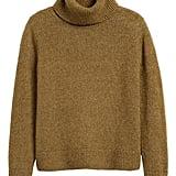 Merino-Blend Boxy Turtleneck Sweater