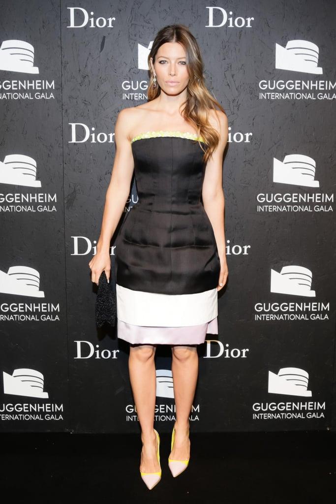Jessica Biel in Dior Haute Couture Dress