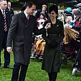 Will put his courtly manners on display while he and Kate kept up with their annual tradition of spending Christmas in Sandringham.