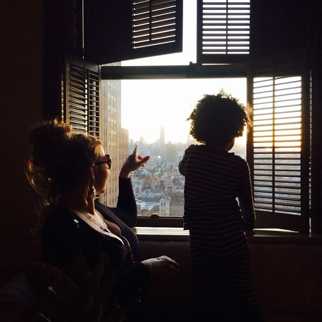 Mariah Carey enjoyed the sights with her little one. Source: Instagram user mariahcarey